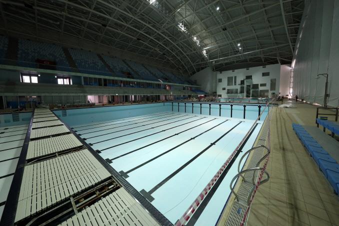 Nambu University Municipal Aquatics Center in Gwangju, 330 kilometers south of Seoul, which will serve as the swimming venue for the 2019 FINA World Aquatics Championships. (Yonhap)