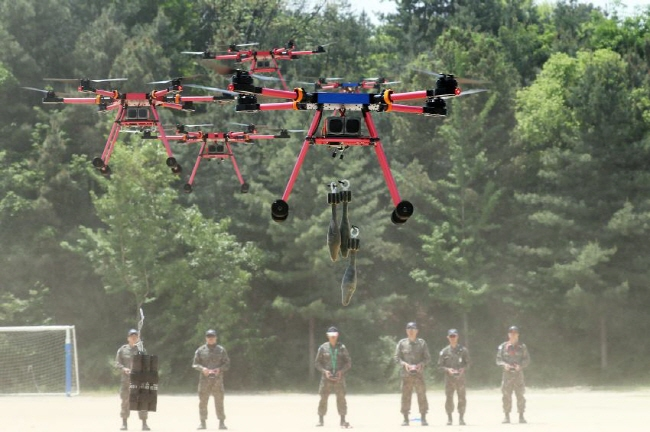 Army Demonstrates Military Drones for Tactical Operations