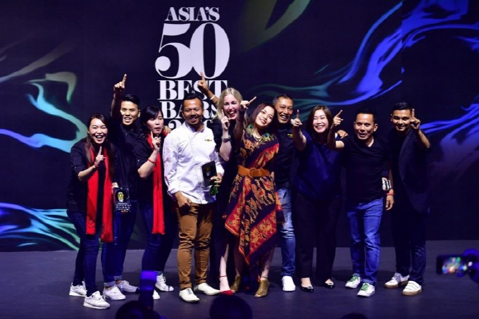The team from The Old Man at the Asia's 50 Best Bars awards ceremony at Capitol Theatre on May 9, 2019. (image: ASIA'S 50 BEST BAR)