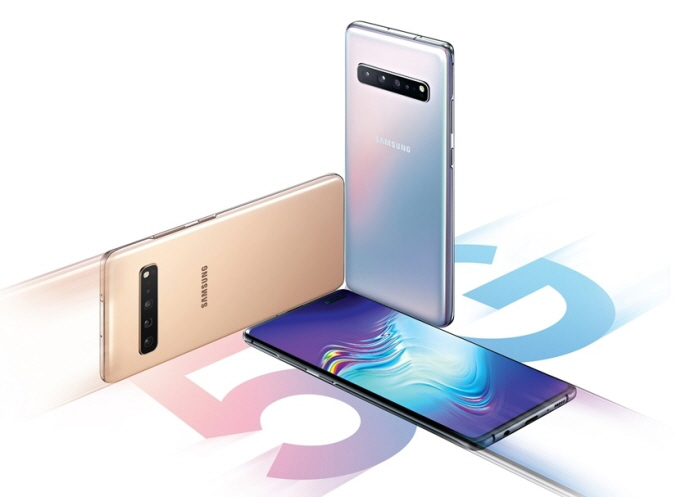 Three colors of Samsung Electronics Co.'s Galaxy S10 5G. (image: Samsung Electronics)