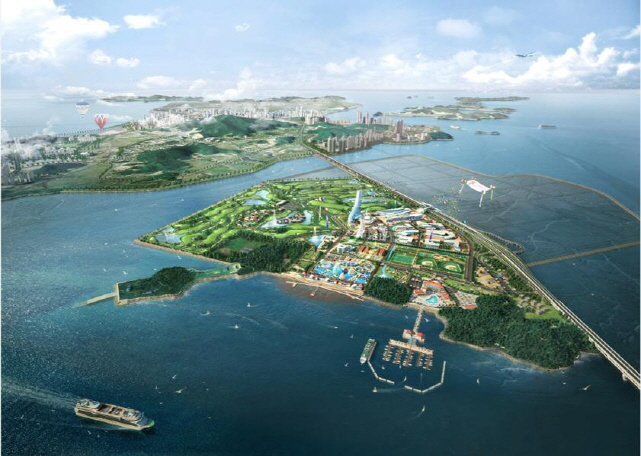 An aerial view of 'Dream Island' project. (image: Ministry of Oceans and Fisheries)