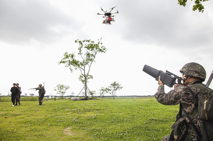 5G Guard Drones to Combat Illegal Drones and Terrorism