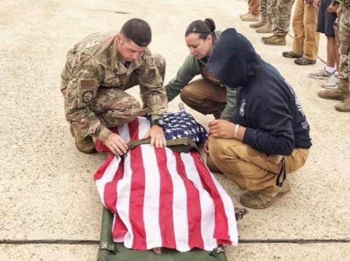U.S. Forces Honor Death of Military Working Dog