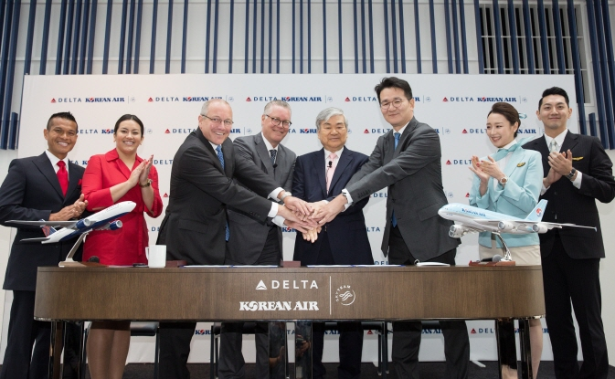 Delta Air Lines and Korean Air launched new JV partnership back in 2017. (image: Korean Air)