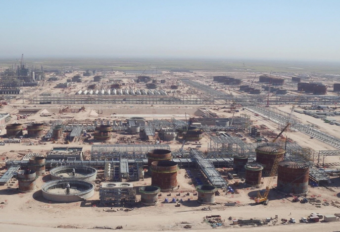 Hyundai Engineering & Construction Co.'s construction site in Iraq. (image: Hyundai Engineering & Construction)