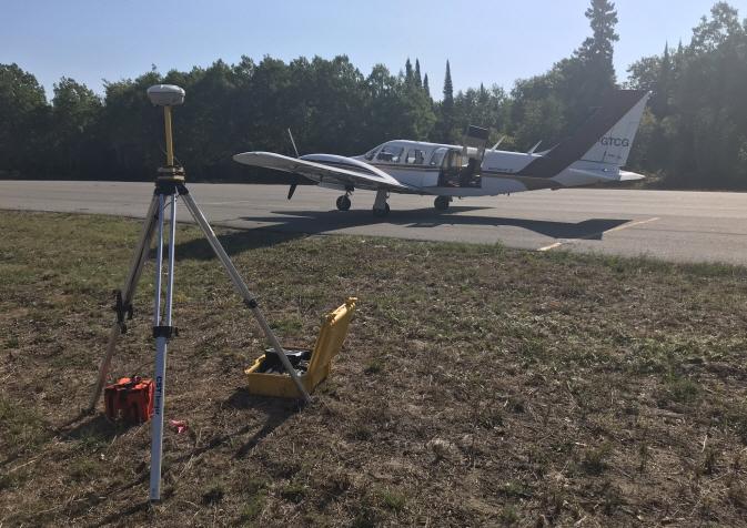 Pre-flight routine before LiDAR survey. (image: Rock Tech Lithium Inc.)