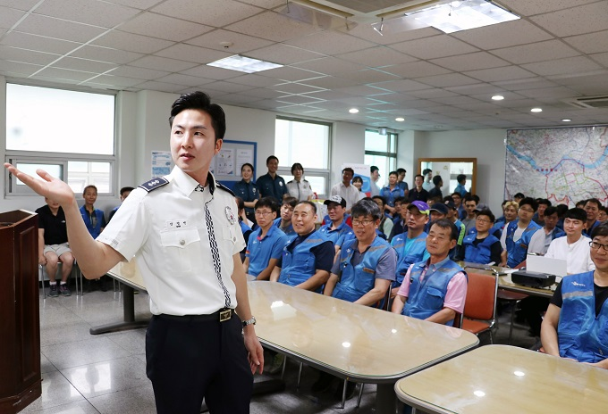 CJ Logistics signed an agreement with the Seoul Metropolitan Police Agency in April of last year, and has since conducted five training sessions with over 350 trainees. (image: CJ Logistics Corp.)