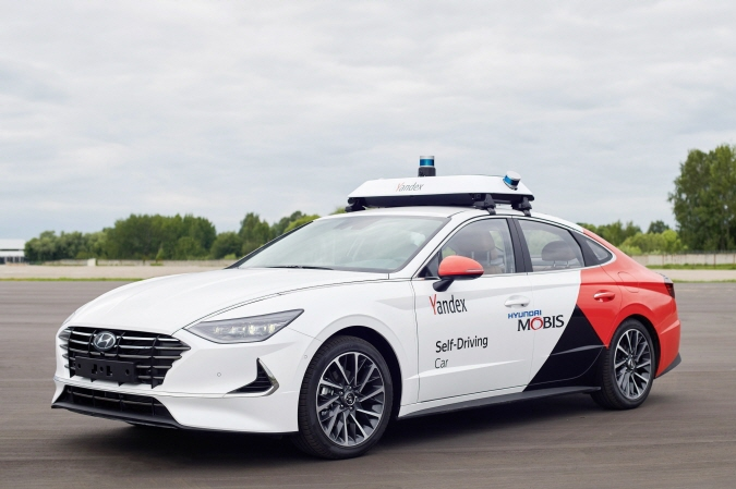 A self-driving robo-taxi Hyundai Motor has jointly developed with Russian tech giant Yandex. (image: Hyundai Motor)