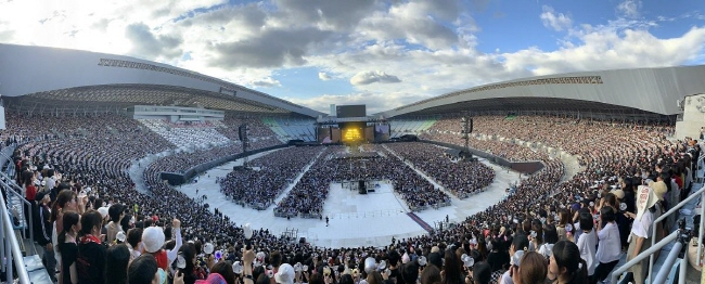 Osaka's Yanmar Stadium Nagai during BTS' performances there on July 6 and 7, 2019. (image: Big Hit Entertainment