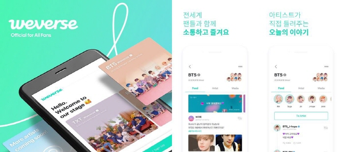 BTS Weverse. (image: Big Hit Entertainment)