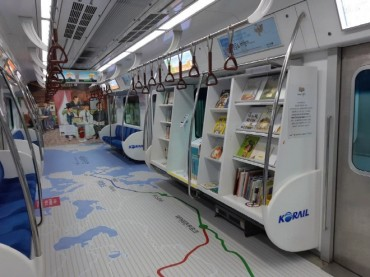 Korail Launches New Library Cars on 'Reading Train'