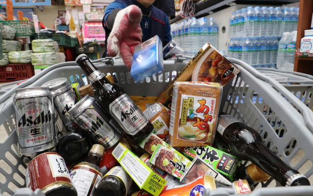 The sheer size of the current boycott movement against Japanese products is unprecedented. (Yonhap)