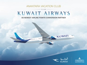Anantara Vacation Club to add Kuwait Airways as Newest Airline Points Conversion Partner