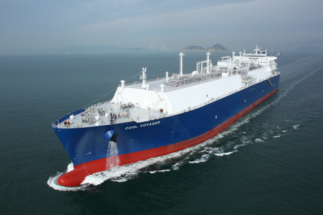 An LNG carrier built by Samsung Heavy Industries Co. (image: Samsung Heavy Industries)