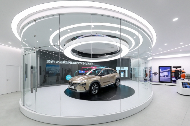 "The ""Hyundai Hydrogen World"" showroom in Shanghai. (image: Hyundai Motor)"