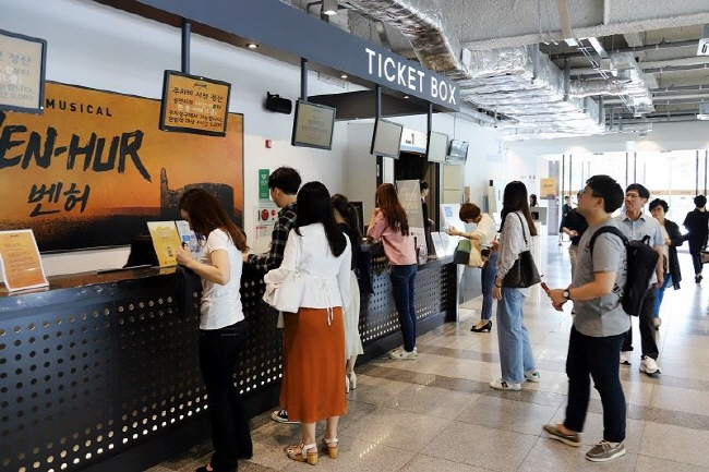 Ticket booths at a performance hall in Seoul. (image: Interpark Corp.)