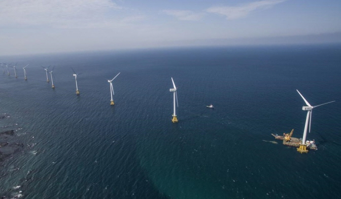 Tamra offshore wind farm just off the coast of the Jeju Island. (image: Korea South-East Power Co.)