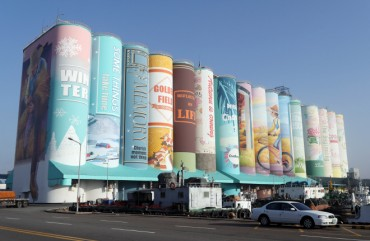 World's Largest Silo Mural in Incheon Harbor Awarded for Design