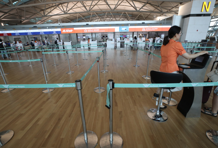 Travelers to Japan Using Incheon Airport Sharply Decreases in Late July