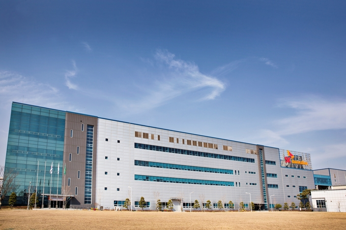 SK Innovation's car battery plant in Seosan, 150 kilometers south of Seoul. (image: SK Innovation)
