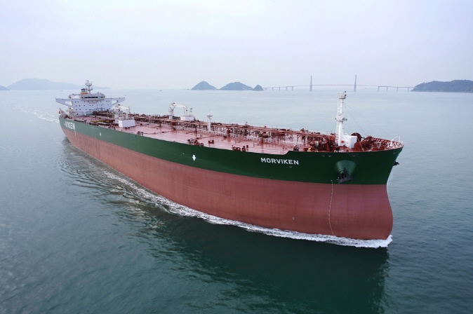 A crude carrier built by  Samsung Heavy Industries Co. (image:  Samsung Heavy Industries)