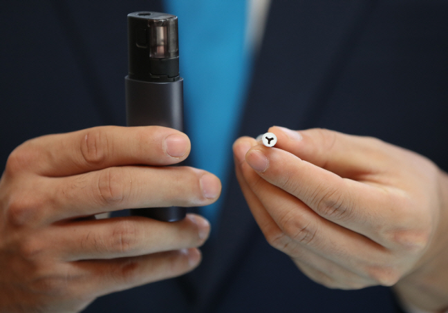 About 330 million packs of e-cigarettes were sold in South Korea last year. (Yonhap)