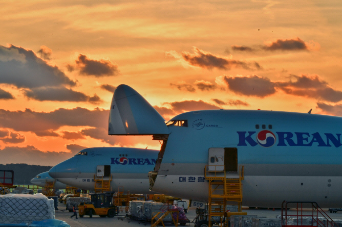 Korean Air Lines Co.'s cargo planes at Incheon International Airport. (image: Korean Air Lines)