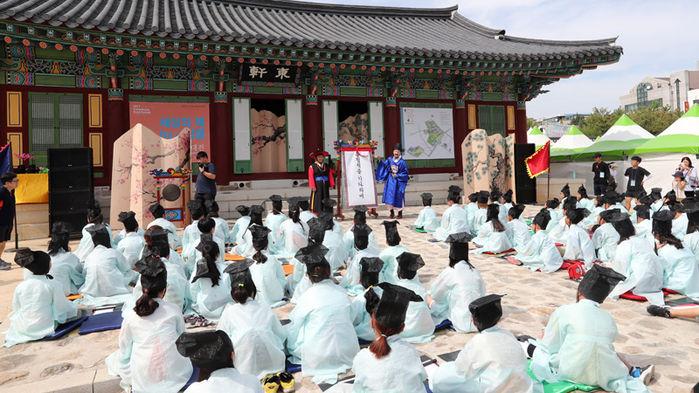 Reenactment of Examination Held During Japanese Invasion of Korea in 1592