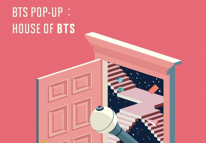 "The promotional image of a BTS pop-up store, ""House of BTS."" (image: Big Hit Entertainment)"