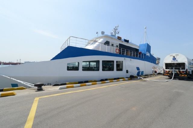 Eco Nuri, Asia's first LNG-fueled ship operated by Incheon Port Authority. (image: Korea Gas Corporation)