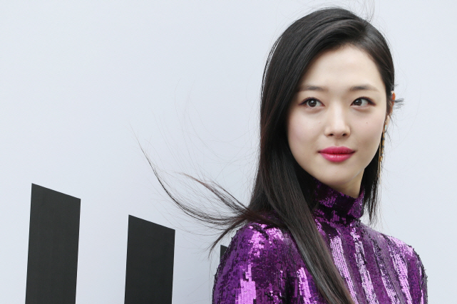 The singer-actress Sulli. (Yonhap)