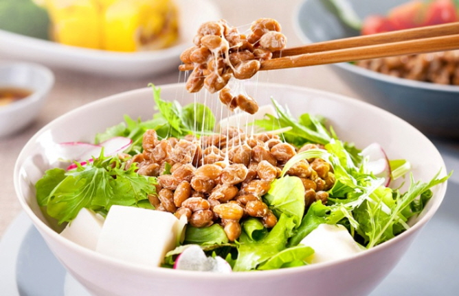 The retail market for natto in Korea is expected to grow in the future as the volume of natto produced in South Korea increases along with imported natto from Japan.(image: Pulmuone Co.)