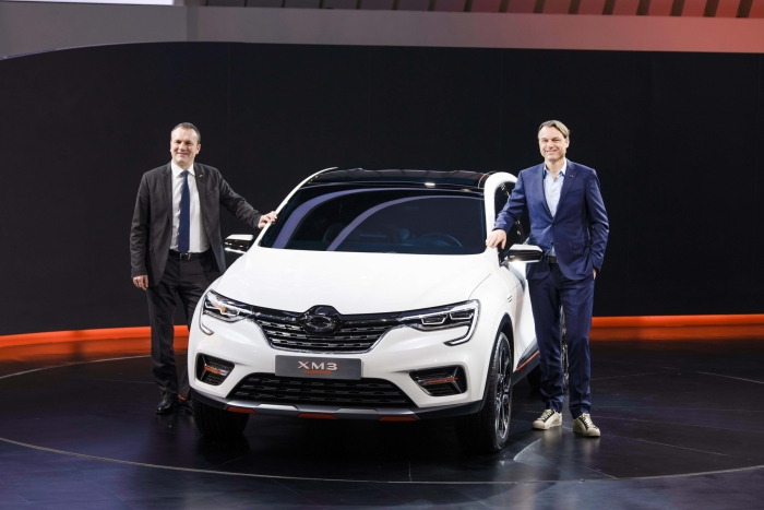 The XM3 SUV to be launched in South Korea in the first quarter of 2020. (image: Renault Samsung Motors)