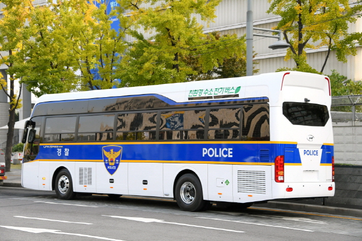 Police Launch New Hydrogen Buses in Seoul