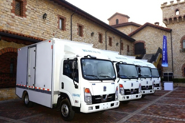 Geely New Energy Commercial Vehicle Group's electric trucks. (image: Geely New Energy Commercial Vehicle Group)