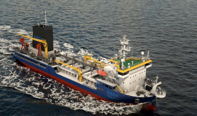 Hanjin Heavy Industries & Construction Co.'s multi-purpose very large oil spill response vessel. (image: Hanjin Heavy Industries & Construction)