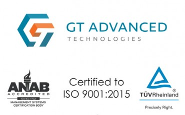 GT Advanced Technologies Achieves ISO-9001:2015 Certification