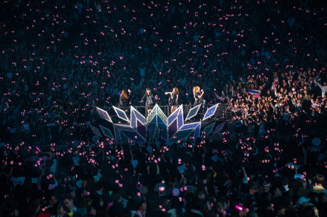 South Korean girl group BLACKPINK's concert at Tokyo Dome on Dec. 4, 2019. (image: YG Entertainment)