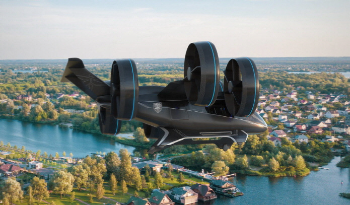 The BELL NEXUS flying car concept. (image: BELL NEXUS)