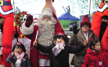 Finnish Santa Touched by Unexpected Present in Hwacheon