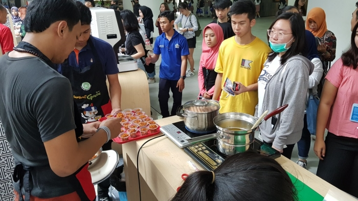 K-Food Campus Festival held at Universitas Multimedia Nusantara in Gading Serpong, Tangerang, Banten, Indonesia on October, 2018. (image: Korea Agro-Fisheries & Food Trade Corp.)