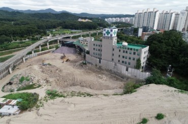 Former Dump the Site of New Tennis Stadium in Uijeongbu