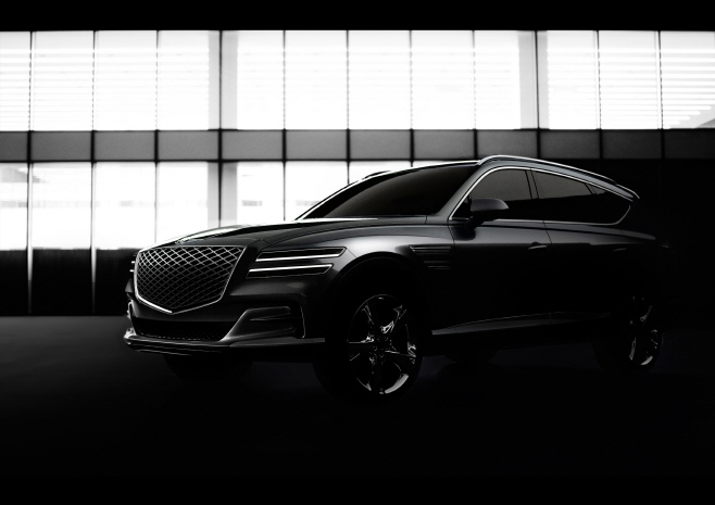 The exterior design of the Genesis GV80 SUV, which will be launched in the domestic market in January. (image: Hyundai Motor)