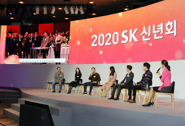 SK Group New Year's Party Forgoes Chairman's Address