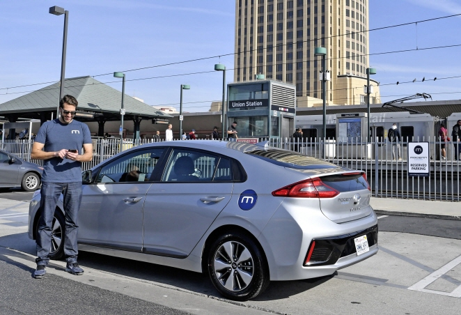 Hyundai Motor Steps Up Car-sharing Business in Los Angeles