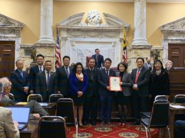 Maryland Senate Adopts Resolution Honoring Korean Independence Fighter