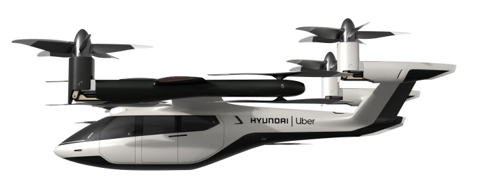 This photo provided by Hyundai Motor shows the S-A1, a personal air vehicle concept jointly developed with the U.S. ride-hailing company Uber Technologies.