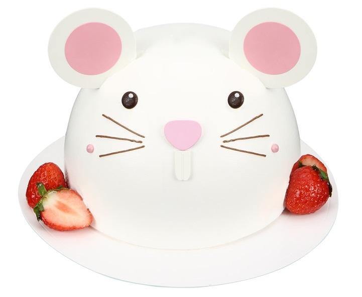 Shinsegae Food Inc.'s rat-shaped cake. (image: Shinsegae Food)