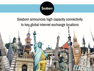 Seaborn Announces High Capacity Connectivity to Key Global Internet Exchange Locations
