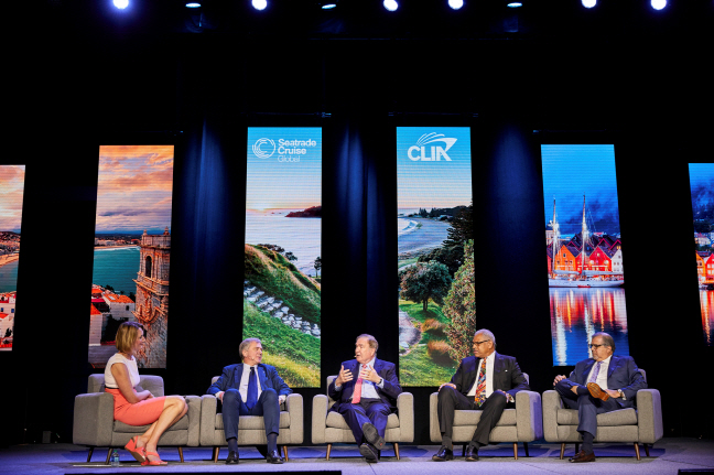 The State of the Global Cruise Industry Keynote brings senior leadership representing the world's four largest cruise lines together. (image: Seatrade)